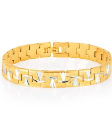 Buy Elegant Gold and Rhodium Plated Bracelet For Men gifts-for-dad online