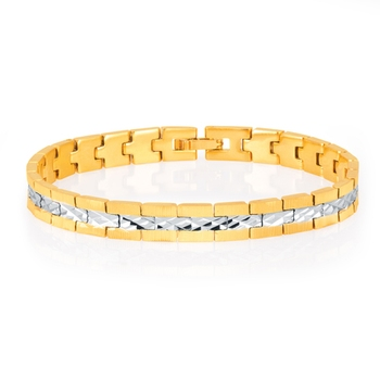 Delightly Gold and Rhodium Plated Bracelet For Men