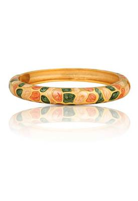 Enameled Gold Plated Bracelet (Green)