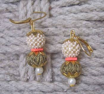 beige white dangler