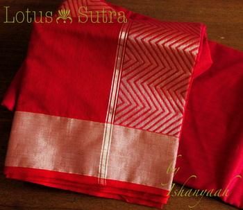 Amazing Red Chanderi Saree