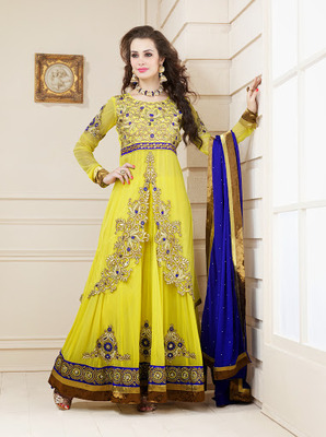 attractive yellow salwar kameez