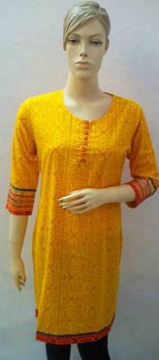 Yellow coloured Kurti
