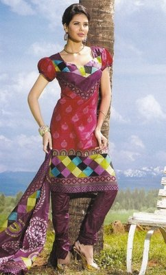 Elegant Cotton Dress Material Unstiched Salwar Kameez Suit D.NO. PB10001
