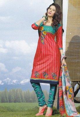 Elegant Cotton Dress Material Unstiched Salwar Kameez Suit D.NO. PB10003