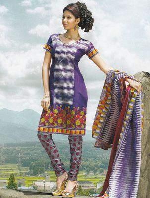 Elegant Cotton Dress Material Unstiched Salwar Kameez Suit D.NO. PB10004