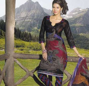 Elegant Cotton Dress Material Unstiched Salwar Kameez Suit D.NO. PB10014