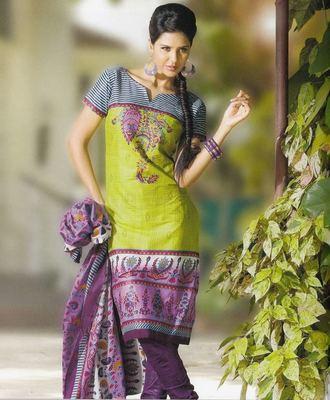 Elegant Cotton Dress Material Unstiched Salwar Kameez Suit D.NO. PB10015