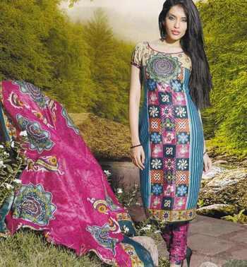 Elegant Cotton Dress Material Unstiched Salwar Kameez Suit D.NO. PB10017