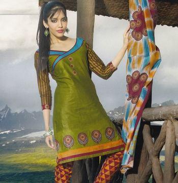 Elegant Cotton Dress Material Unstiched Salwar Kameez Suit D.NO. PB10019