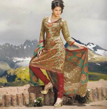 Elegant Cotton Dress Material Unstiched Salwar Kameez Suit D.NO. PB10025