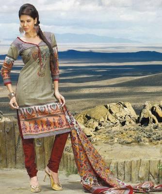 Elegant Cotton Dress Material Unstiched Salwar Kameez Suit D.NO. PB10027