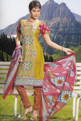 Elegant Cotton Dress Material Unstiched Salwar Kameez Suit D.NO. PB10030