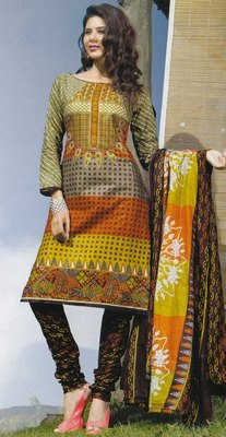Elegant Cotton Dress Material Unstiched Salwar Kameez Suit D.NO. PB10031
