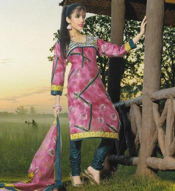 Elegant Cotton Dress Material Unstiched Salwar Kameez Suit D.NO. PB10033
