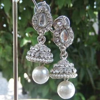 White Tokri Earrings
