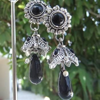 Black Stone Tokri Danglers