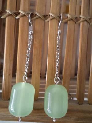 Green Chain Earrings-Aliff Lailaa-02043