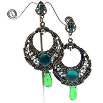 Green & Copper Earrings