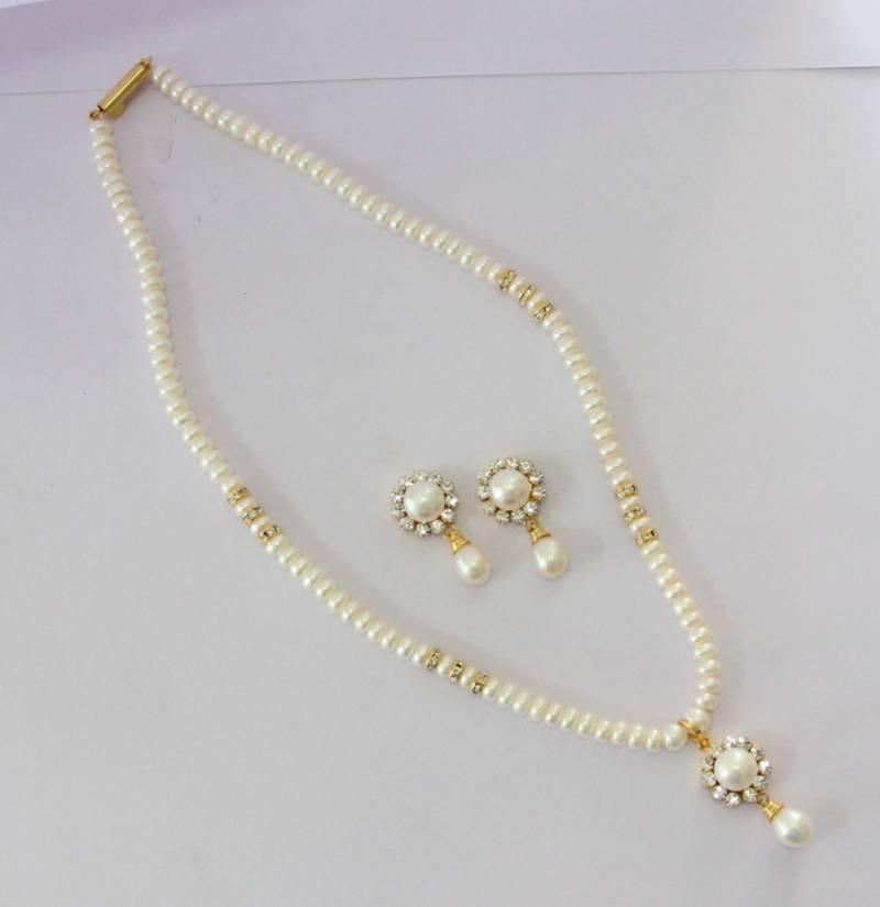 Buy Real Pearls Single String Pearls Set Online