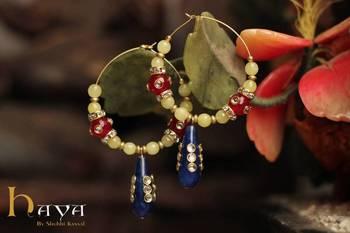 Ethnic Blue Drop Earrings