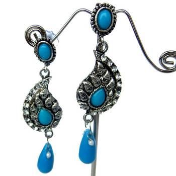 Firozi copper earring