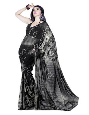 Saree Elegant Chiffon Designer Print With Blouse Piece D.No 10012A