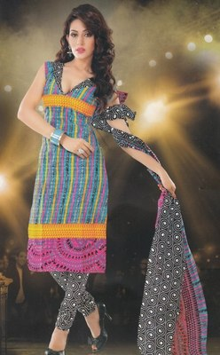 Elegant designer Lawn coton unstitched dress material D.No. BC4002