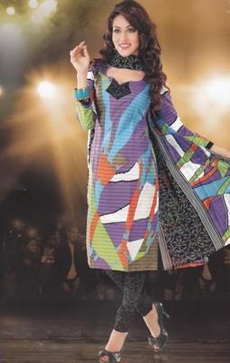 Elegant designer Lawn coton unstitched dress material D.No. BC4003