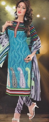 Elegant designer Lawn coton unstitched dress material D.No. BC4006