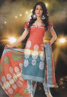 Elegant designer Lawn coton unstitched dress material D.No. BC4009