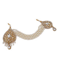 Buy Golden and White Hair Accessory Passa Jhumoor hair-accessory online