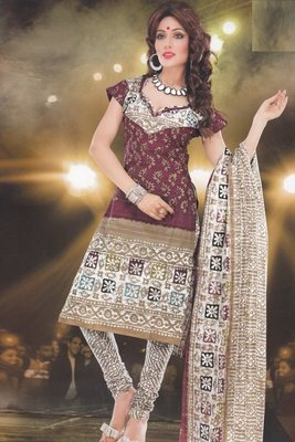 Elegant designer Lawn coton unstitched dress material D.No. BC4013