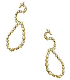 Buy One Line Pearl White Polki Stones Haath Panja Phool Jewellery for Women - Orniza haath-phool-hath-panja online