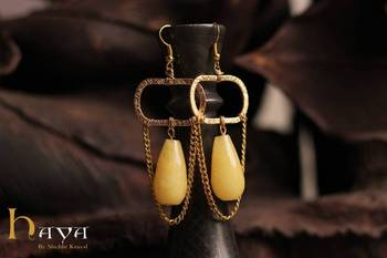 YELLOW QUARTZ EARRINGS