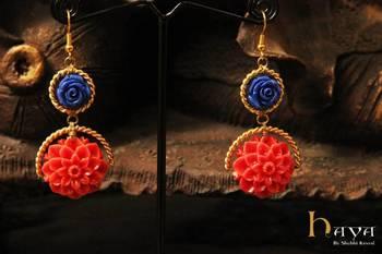 Trendy flower Earrings