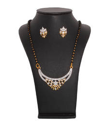 Buy Diamond studded Mangalsutra set mangalsutra online