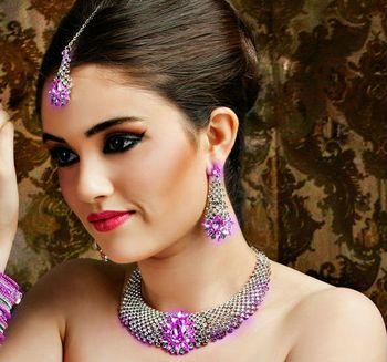 Designer sparkle pink set amd