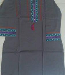 Buy Grey coloured cotton kurti kurtas-and-kurti online