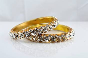 brass stone bangals size-2.4,2.6,2.8