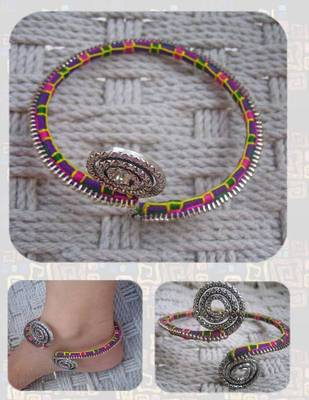 zip your feet in coolest style- anklet