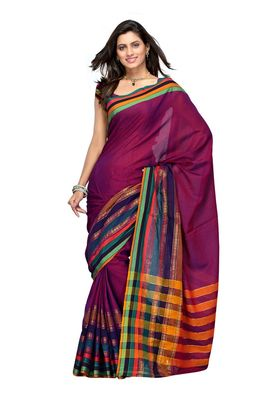 Cotton Bazaar Dark Pink Pure Cotton Saree