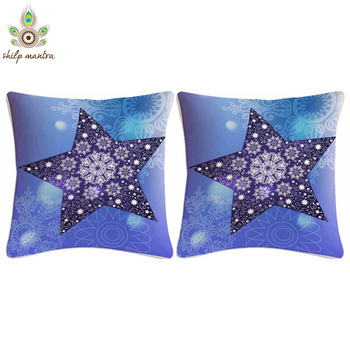 Blue Star Digital Print Cushion Covers