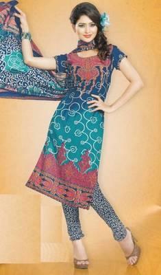 Dress Material Crepe Designer Prints Unstitched Salwar Kameez Suit D.No AP901