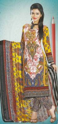 Dress Material Crepe Designer Prints Unstitched Salwar Kameez Suit D.No AP909