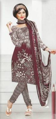 Dress Material Crepe Designer Prints Unstitched Salwar Kameez Suit D.No AP916