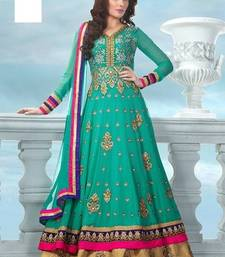 Buy firozy georgette embroidered semi_stitched salwar with dupatta party-wear-salwar-kameez online