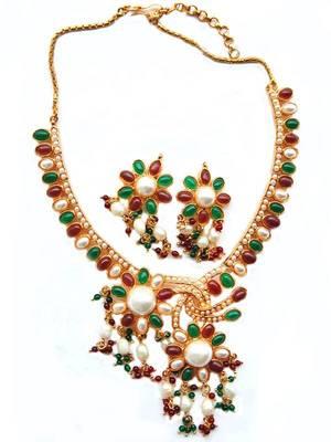 Multicolored Wedding Bollywood Necklace Set