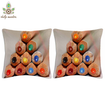 Color Stick Digital Print Cushion Covers