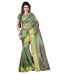 Buy Green printed cotton_poly saree with blouse other-saree online